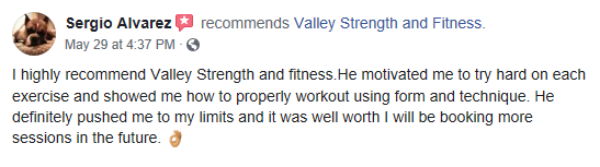Personal Training - Testimonial Sergio review 1